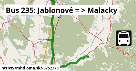 ilustračný obrázok k Bus 239: Jablonové => Malacky