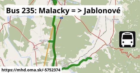 ilustračný obrázok k Bus 239: Malacky => Jablonové