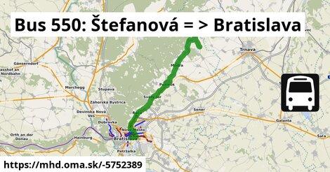 ilustračný obrázok k Bus 550: Štefanová => Bratislava