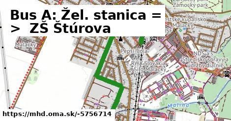 ilustračný obrázok k Bus 255/A: ŽST => ZŠ Štúrova