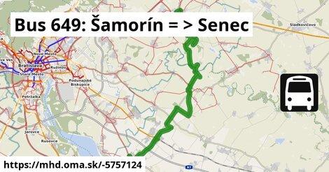 ilustračný obrázok k Bus 649: Šamorín => Senec (cez SC,Kafiléria)