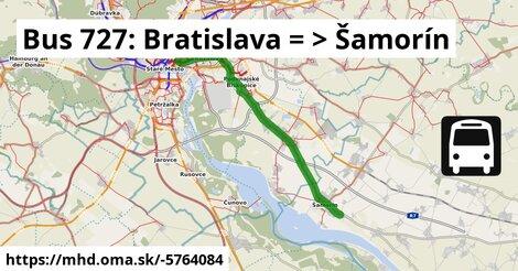 ilustračný obrázok k Bus 727: Bratislava => Šamorín