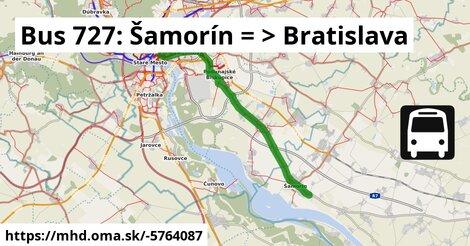 ilustračný obrázok k Bus 727: Šamorín => Bratislava