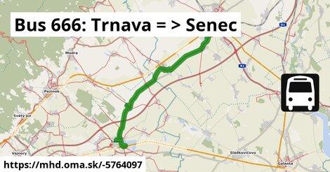 ilustračný obrázok k Bus: Trnava => Senec