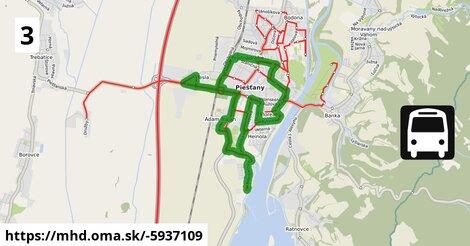 ilustračný obrázok k Bus 3: Poliklinika => Autobusová stanica => Poliklinika