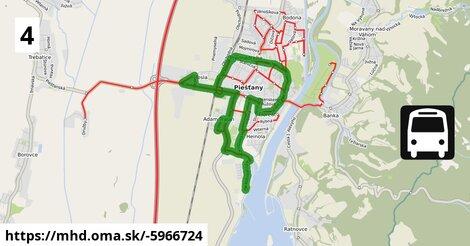 ilustračný obrázok trasy Linky číslo 4 v SR
