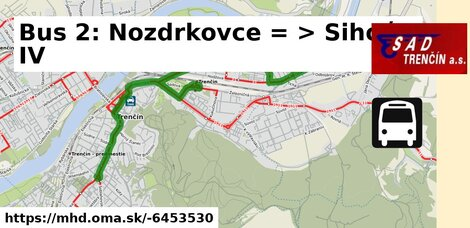 ilustračný obrázok k Bus 2: Nozdrkovce => Sihoť IV