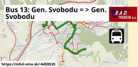 ilustračný obrázok k Bus 13: Gen. Svobodu => Gen. Svobodu