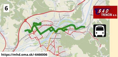 ilustračný obrázok k Bus 6: Sihoť IV - Záblatie, Rybáre - Detské mestečko - Sihoť IV