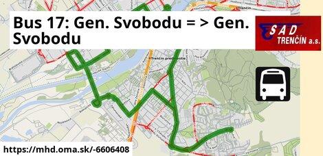 ilustračný obrázok k Bus 17: Gen. Svobodu => Gen. Svobodu