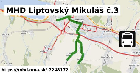 ilustračný obrázok k MHD Liptovský Mikuláš č.3