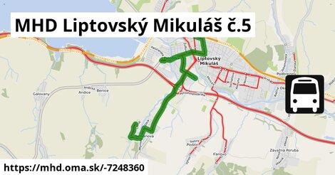 ilustračný obrázok k MHD Liptovský Mikuláš č.5