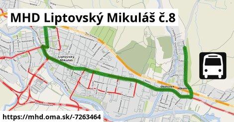 ilustračný obrázok k MHD Liptovský Mikuláš č.8
