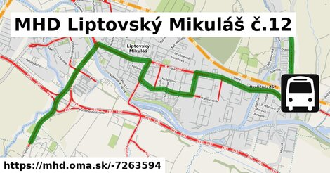 ilustračný obrázok k MHD Liptovský Mikuláš č.12
