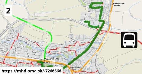 ilustračný obrázok k Linka 2: Matejovce, Lidická>Matejovce,GGP>Tatravagónka>Autobusová stanica
