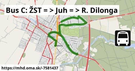 ilustračný obrázok k Bus 255/C: ŽST => R. Dilonga
