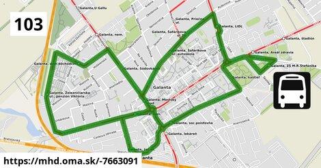 ilustračný obrázok k Bus 103 (7): Galanta,žel.st => Galanta,žel.st