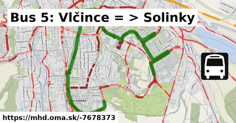 ilustračný obrázok k Bus 5: Vlčince => Solinky