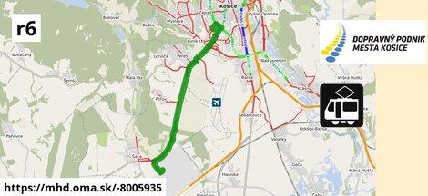ilustračný obrázok k Tram R6: Vstupný areál U.S. Steel => Dopravný podnik mesta Košice