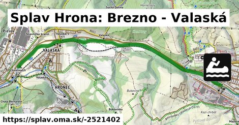 ilustračný obrázok k Splav Hrona: Brezno - Valaská