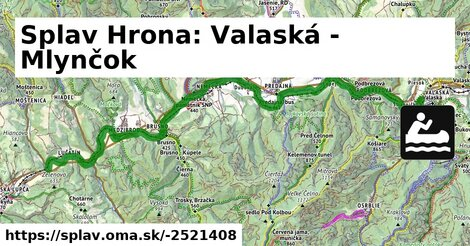 ilustračný obrázok k Splav Hrona: Valaská - Mlynčok