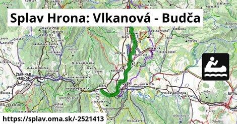 ilustračný obrázok k Splav Hrona: Vlkanová - Budča
