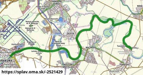 Splav Malý Dunaj: Bratislava - Tomášov