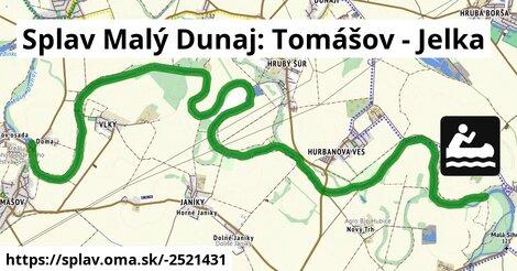 ilustračný obrázok k Splav Malý Dunaj: Tomášov - Jelka
