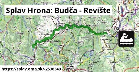 ilustračný obrázok k Splav Hrona: Budča - Revište