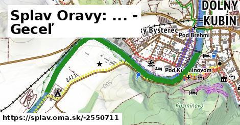 Splav Oravy: ... - Geceľ