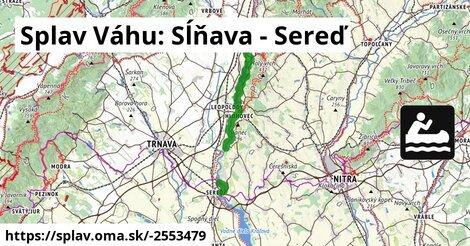 ilustračný obrázok k Splav Váhu: Sĺňava - Sereď