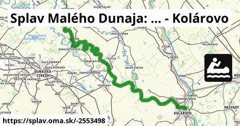Splav Malého Dunaja: ... - Kolárovo