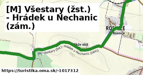 [M] Všestary (žst.) - Hrádek u Nechanic (zám.)