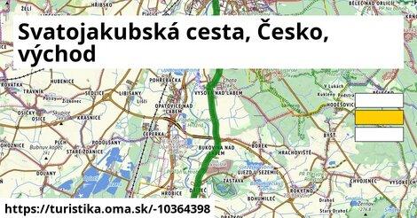 Svatojakubská cesta, Česko, východ