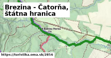 ilustračný obrázok k Brezina - Čatorňa, štátna hranica