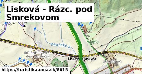 ilustračný obrázok k Lisková - Rázc. pod Smrekovom