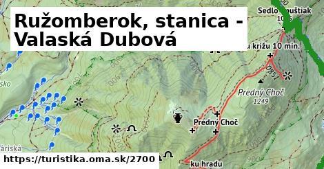 ilustračný obrázok k Ružomberok, stanica - Valaská Dubová
