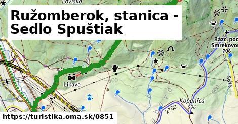 ilustračný obrázok k Ružomberok, stanica - Sedlo Spuštiak
