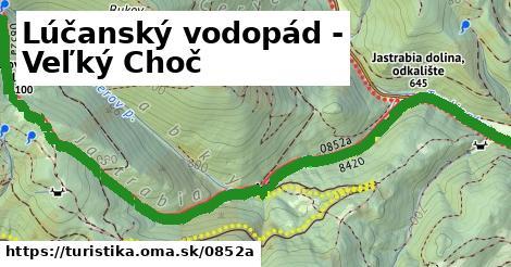 ilustračný obrázok k Lúčanský vodopád - Veľký Choč