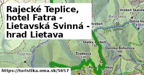 ilustračný obrázok k Rajecké Teplice, hotel Fatra - Lietavská Svinná - hrad Lietava