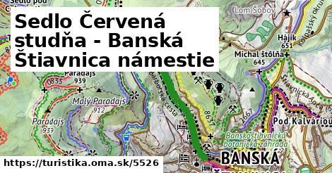 ilustračný obrázok k Sedlo Červená studňa - Banská Štiavnica námestie