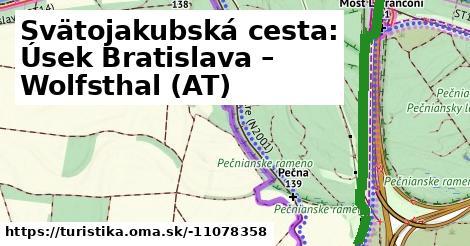 Svätojakubská cesta: Úsek Bratislava – Wolfsthal (AT)