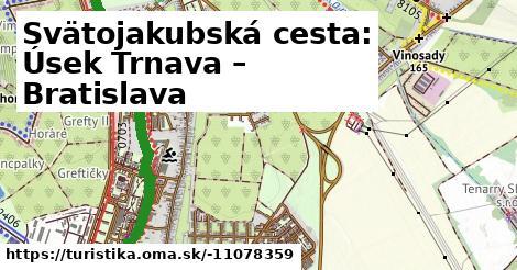 Svätojakubská cesta: Úsek Trnava – Bratislava