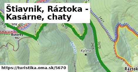 ilustračný obrázok k Štiavnik, Ráztoka - Kasárne, chaty