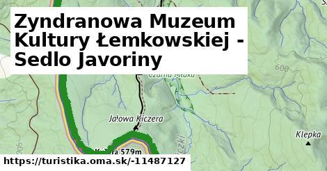 Zyndranowa Muzeum Kultury Łemkowskiej - Sedlo Javoriny