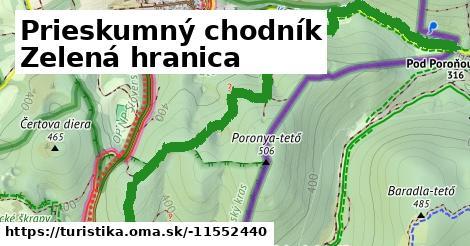 Zöldhatár tanösvény (Aggtelek-Domica) (szlovák oldal)