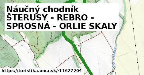 Náučný chodník ŠTERUSY - REBRO - SPROSNÁ - ORLIE SKALY