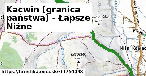 Kacwin (granica państwa) - Łapsze Niżne