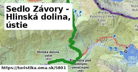 ilustračný obrázok k Sedlo Závory - Hlinská dolina, ústie