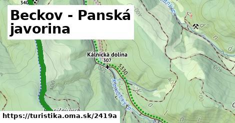 ilustračný obrázok k Beckov - Panská javorina